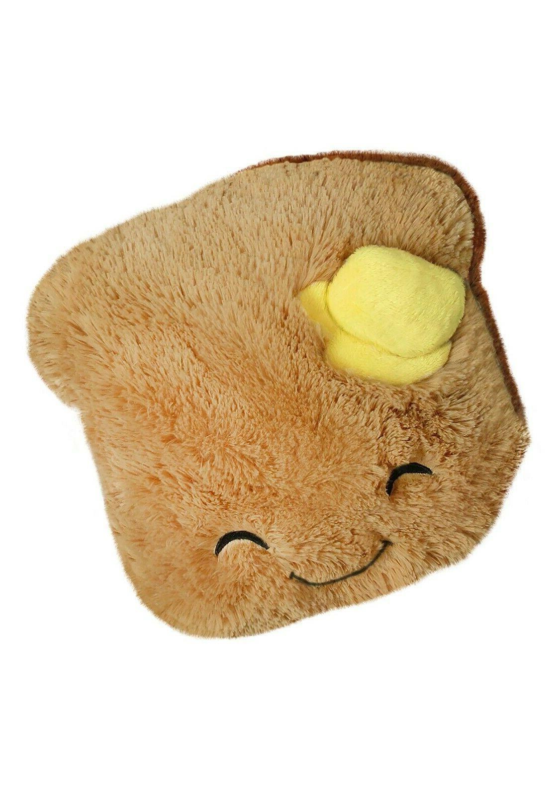 mini comfort food toast stuffed plush figure