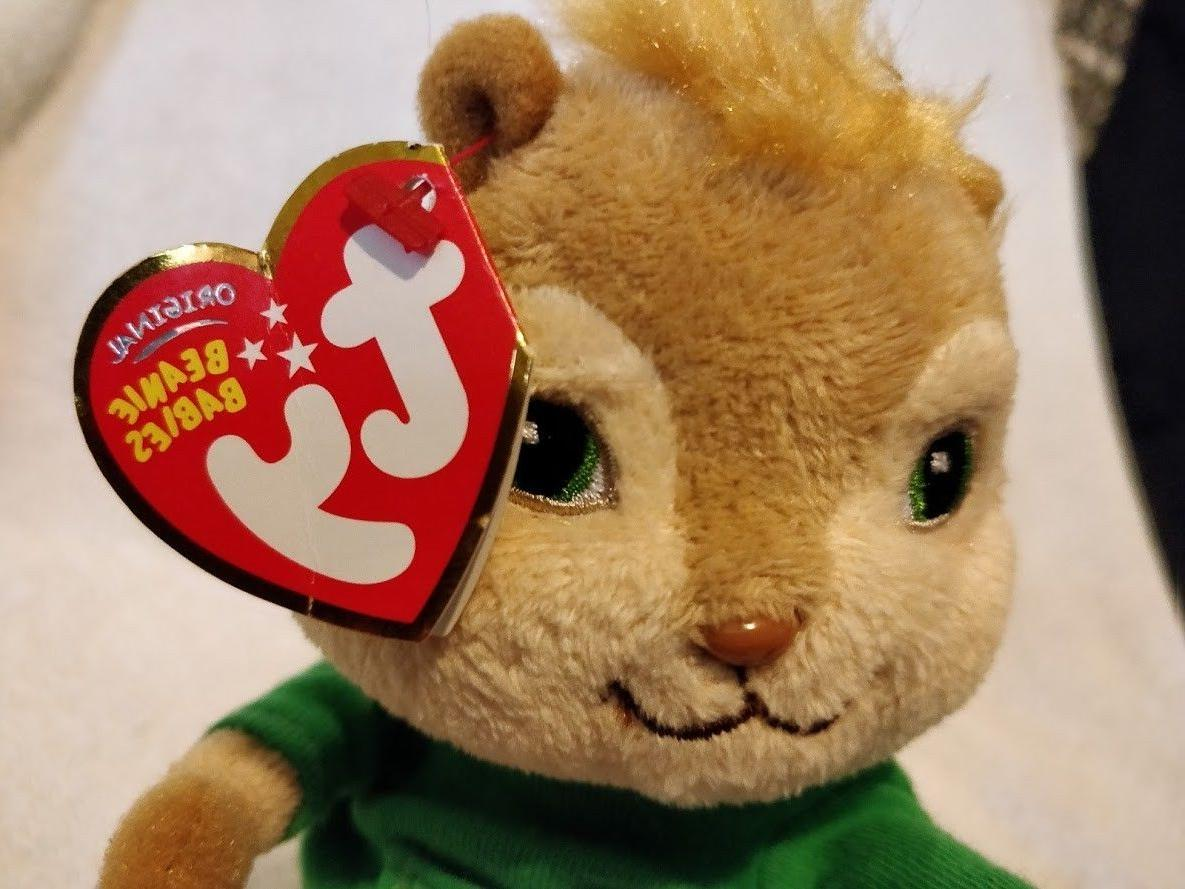 MINT Beanie Baby - THEODORE from Alvin the Chipmunks 2010