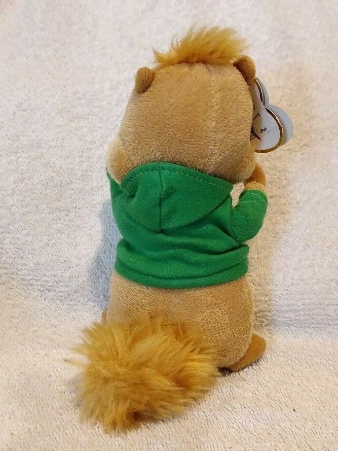 MINT Beanie - THEODORE - Chipmunk from Alvin Chipmunks NWT,