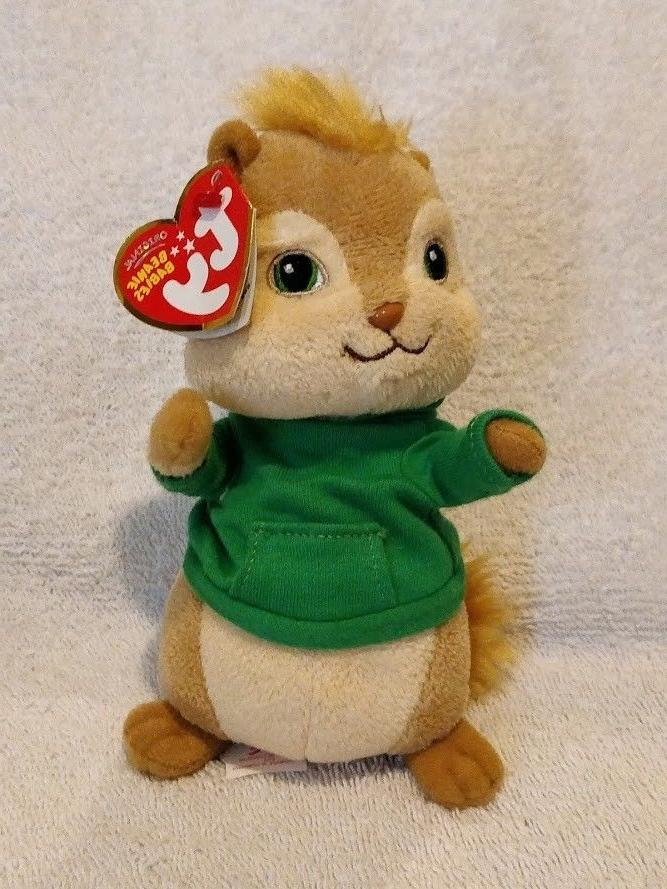 mint beanie baby theodore chipmunk from alvin