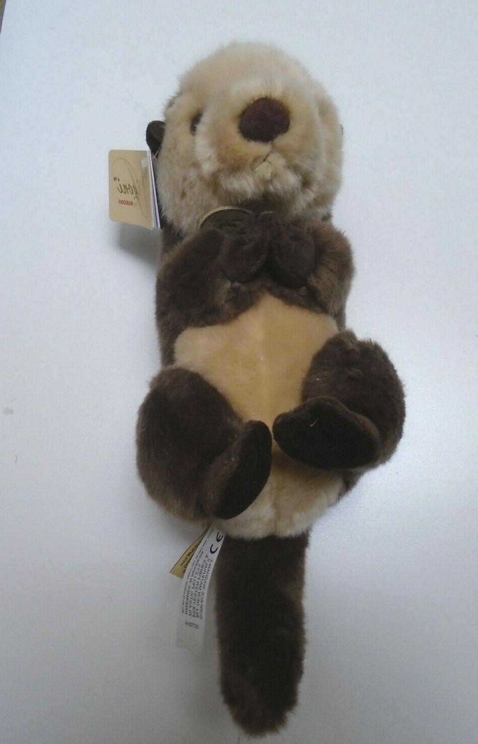 MIYONI AURORA WORLD Plush Stuffed Animal Sea Otter NEW
