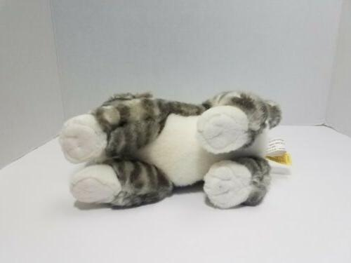 Miyoni Tots Tabby Cat Plush Stuffed Animal 10""