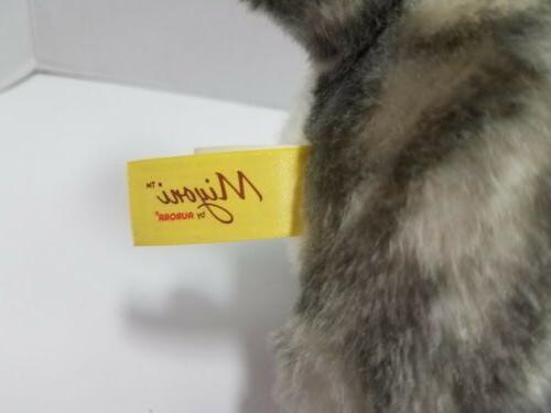 "Miyoni Tabby Cat Stuffed Animal 10"""