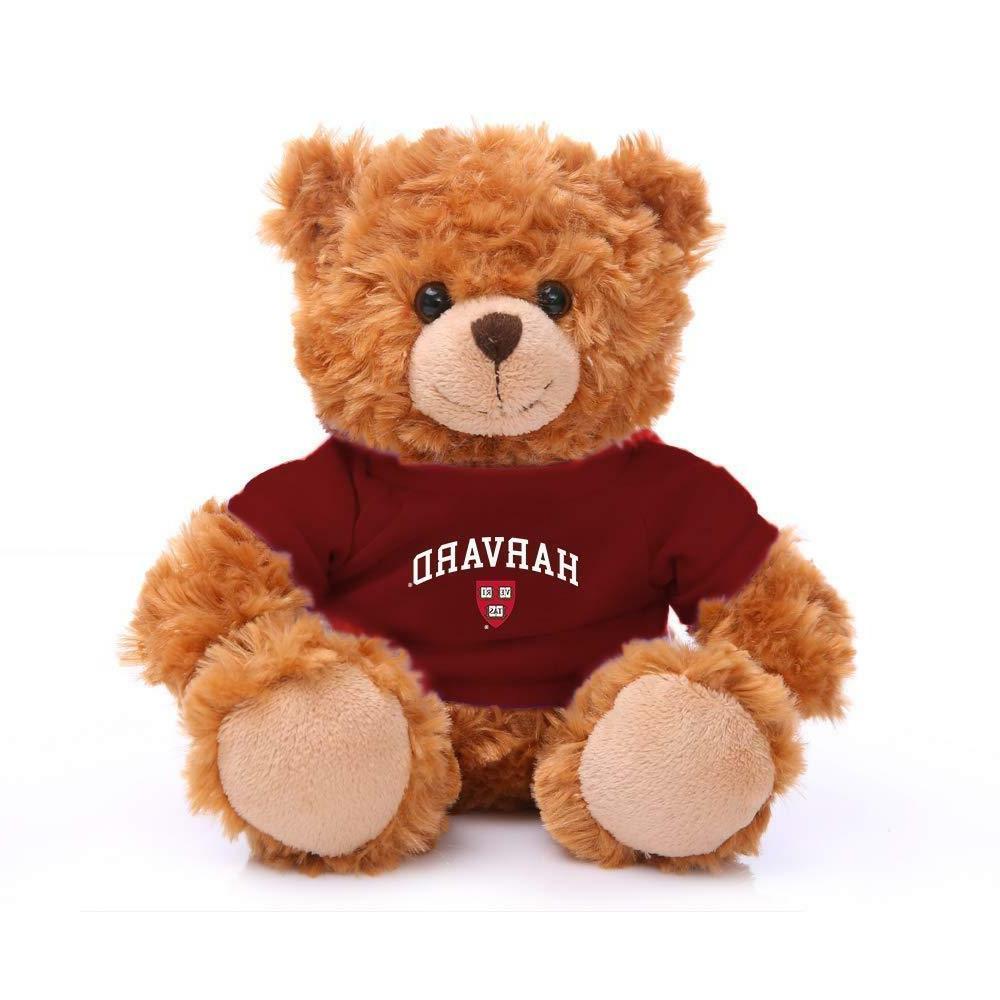 "Plushland Mocha Bear Harvard University Team Jersey 9"" Stuff"