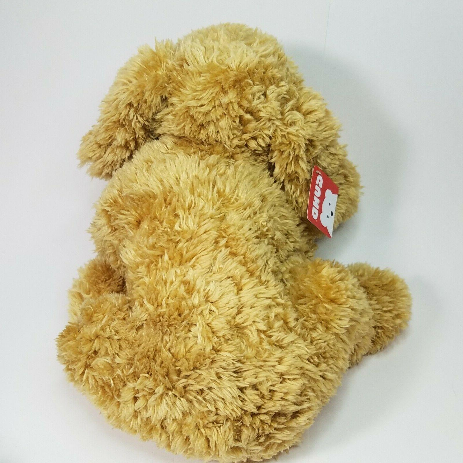 "GUND Dog Animal Plush, Beige, 14"" - New W/ -"