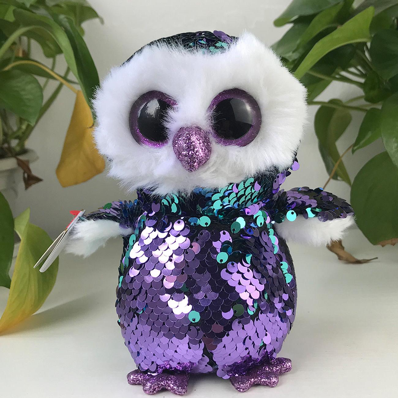 "New 6""ty Beanie Boos Glitter Eyes Plush Stuffed Animals Toys"