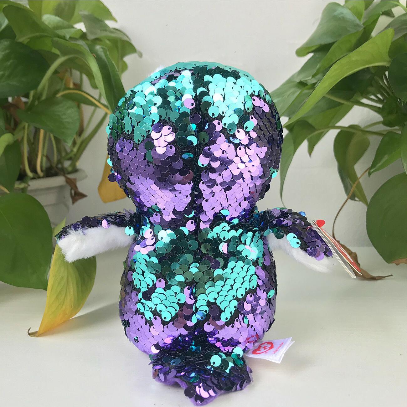 "New 6""ty Beanie Glitter Stuffed Animals Toys Kids Gift Sequin"