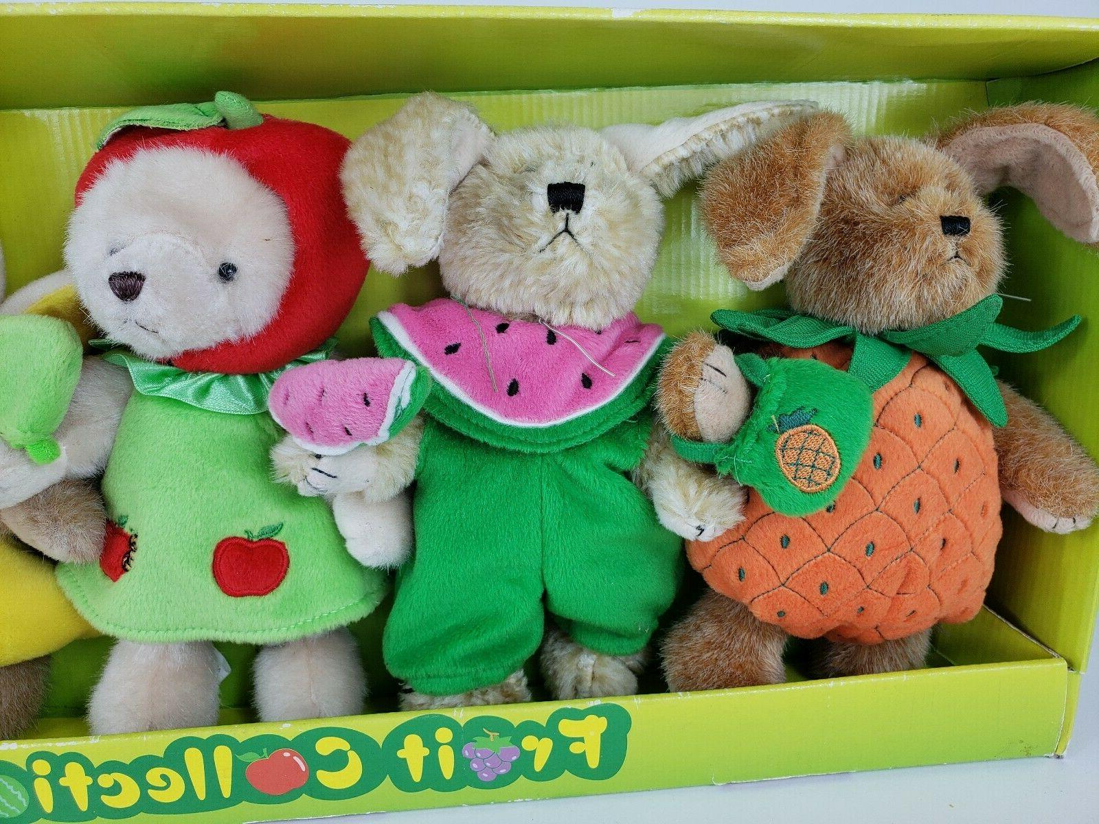 NEW IN BOX collection scented bears stuffed animals