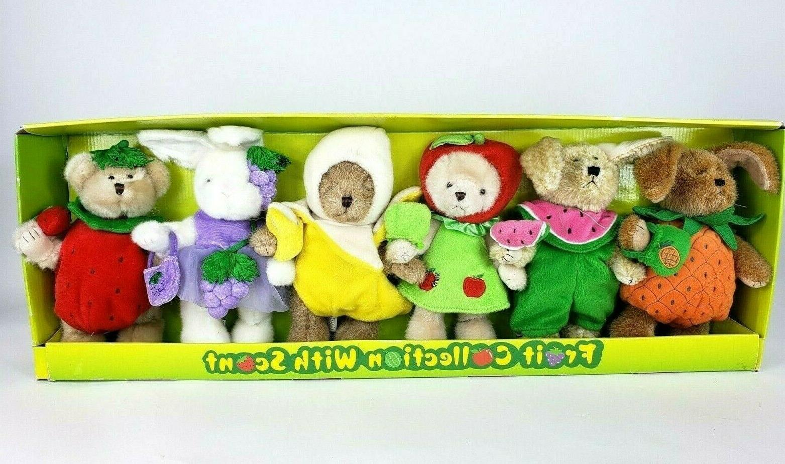 new in box fruit collection scented bears