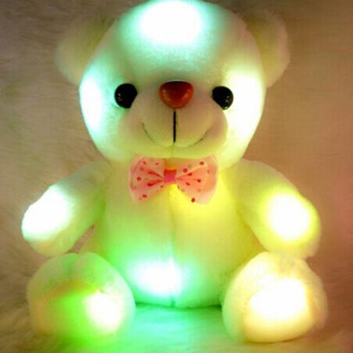 Christmas Light Up Bear Stuffed Toy HX