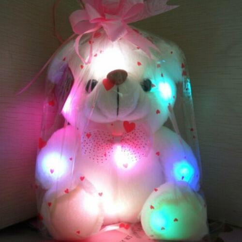 New LED Bear Stuffed Soft Hug