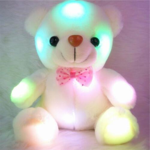 New LED Bear Soft Hug Kids Xmas Gift