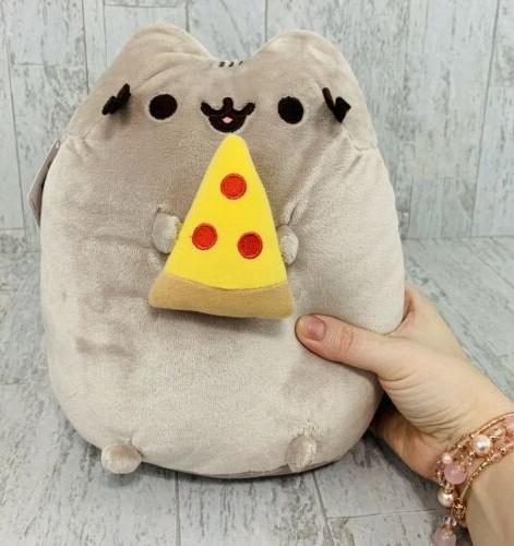 """New GUND Pusheen 10"""" Stuffed Plush 4058937 Snack Slice Cat F"""