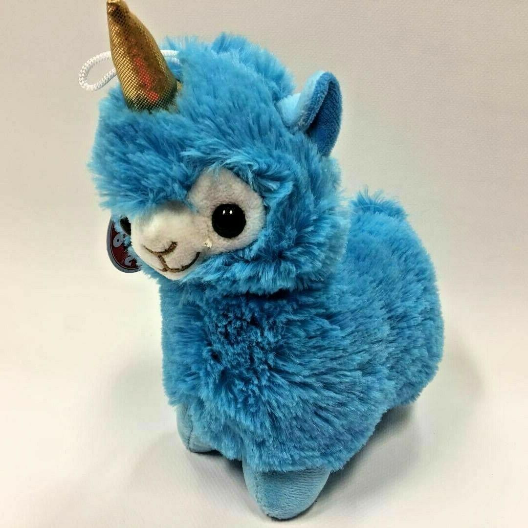 "New 8"" Blue LLAMA-CORN  Plush Stuffed Animals Peek a Boo Lic"
