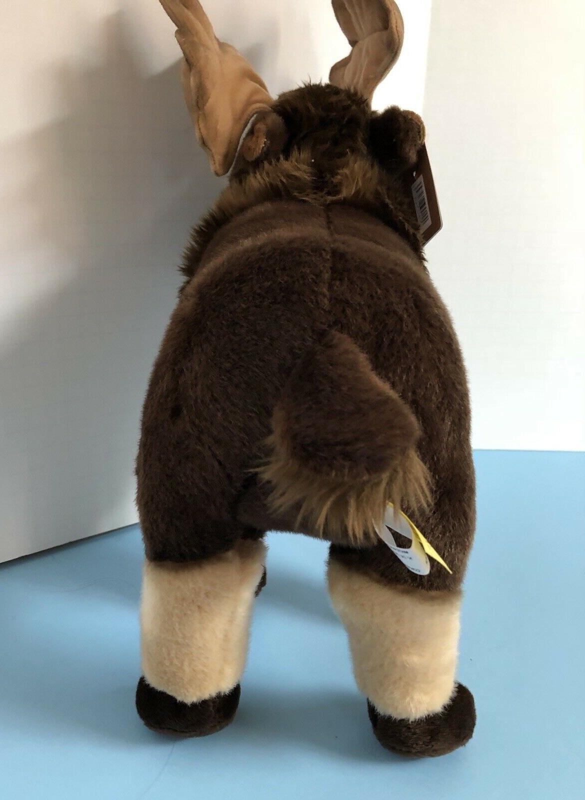 "NEW Adorable Miyoni Aurora Moose 12"" Stuffed Animal"