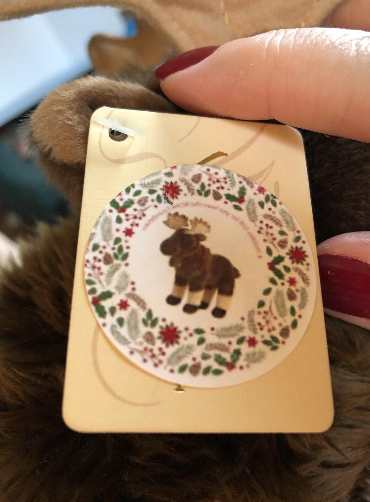 NEW WITH Miyoni Aurora Moose Stuffed Animal