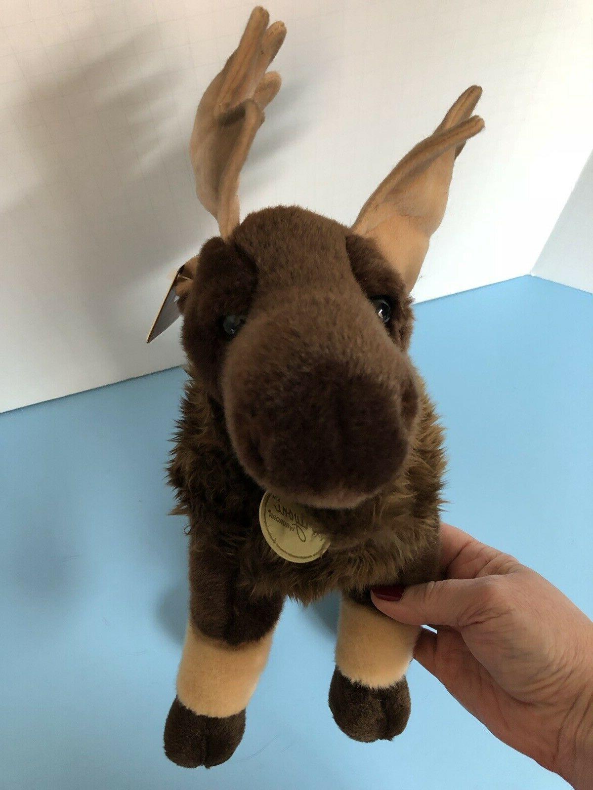 NEW WITH Adorable Miyoni Moose PLUSH Animal