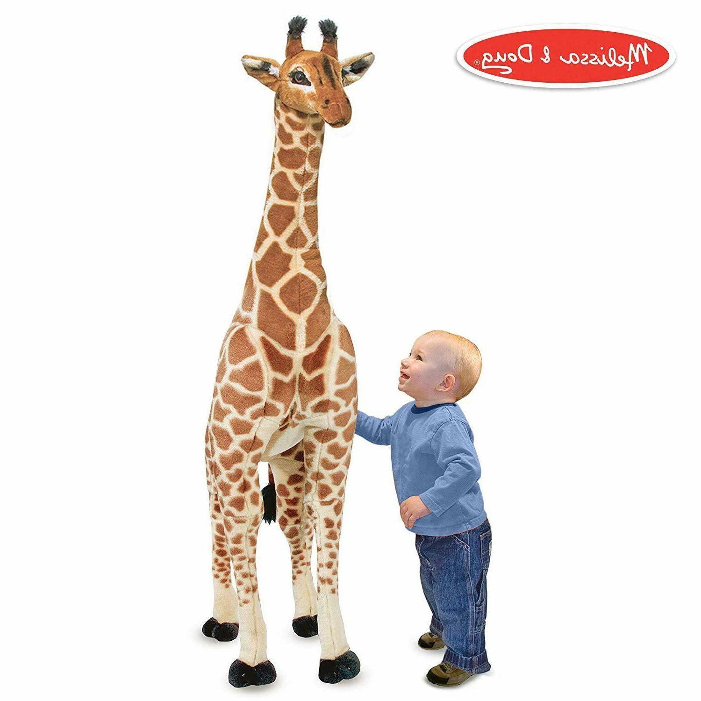 nwt melissa and doug giant giraffe lifelike