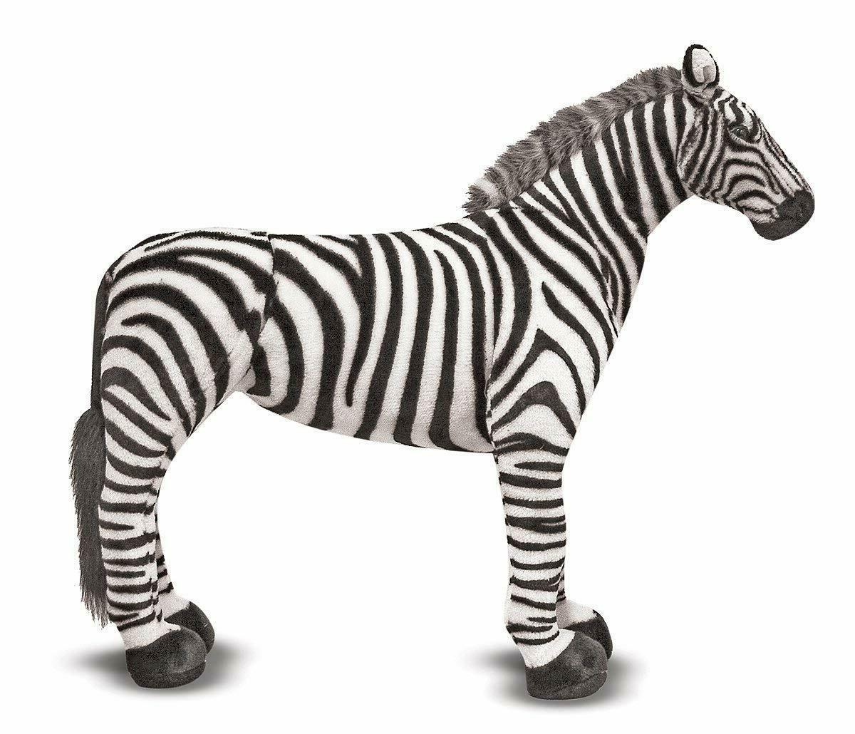 NWT Giant Zebra Lifelike Stuffed Animal