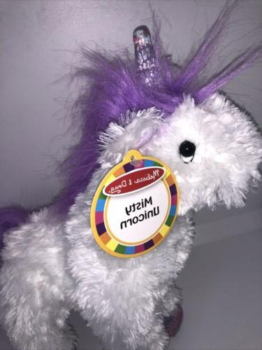 NWT Melissa Doug Misty White UNICORN Stuffed Animal Toy Horse 11""