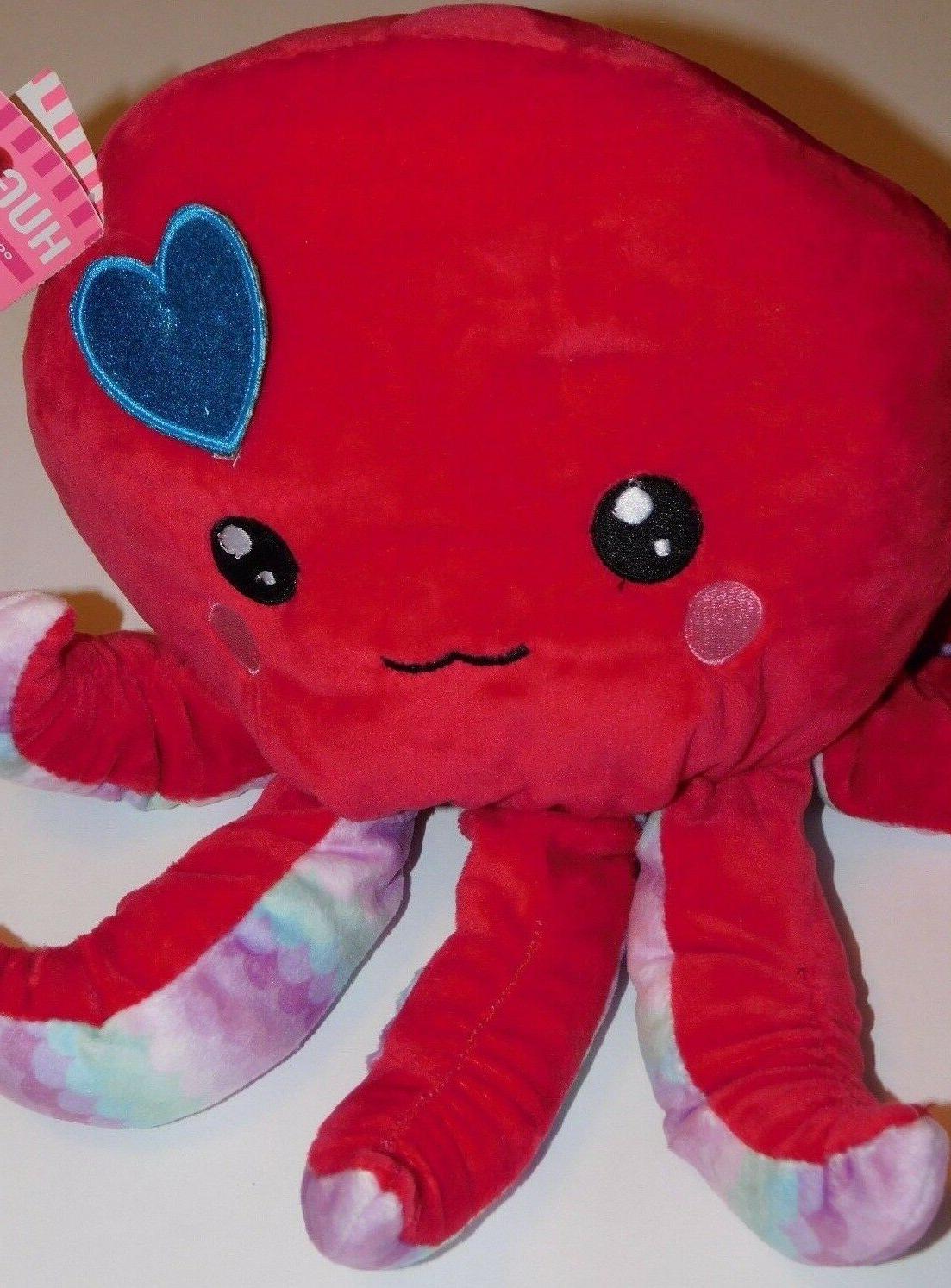 Octopus Red Sea Creature Ocean Life Stuffed Plush Animal 10i