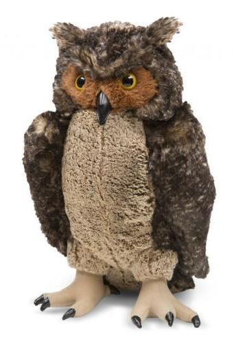 """Owl Realistic Bird 17"""" Gift Girl"""