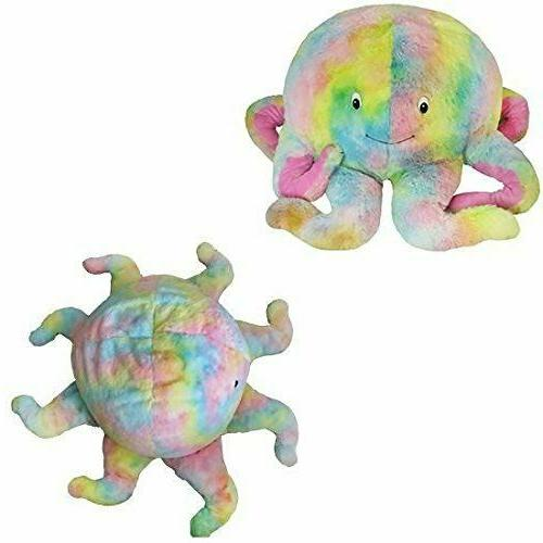 pastel prism octopus plush soft stuffed animal