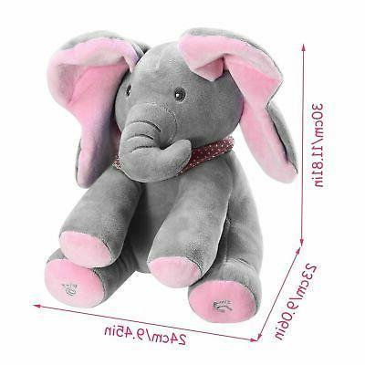 Peek-a-Boo Talking Singing Elephant Doll For-Baby