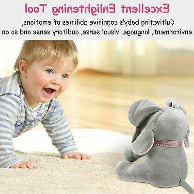 Peek-a-Boo Talking Singing Plush Doll For-Baby