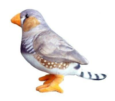 peppy zebra finch bird stuffed