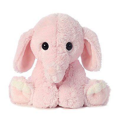 Pink Plush Elephant Stuffed Animal Toy Soft Cuddly Gift