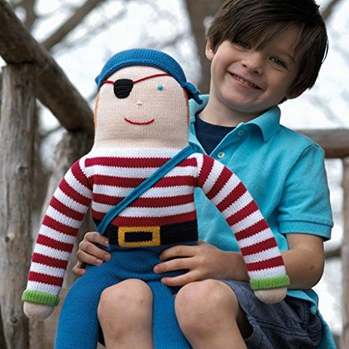 Zubels the Pirate Toy, 12-Inch, Fibers, Eco-Friendly