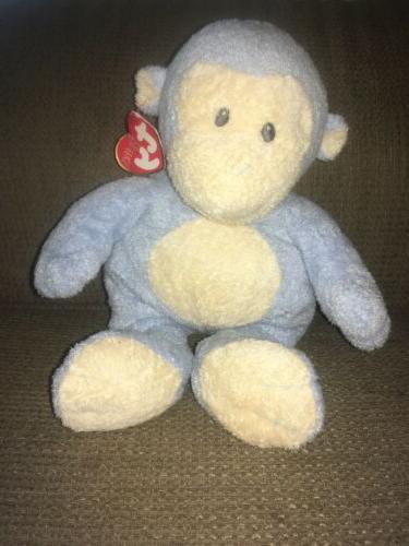 pluffies 2007 dangles baby blue monkey stuffed