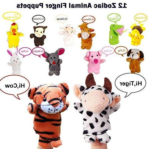 22 Plush Animals Mini Plush Assortment Hands Puppets For Set