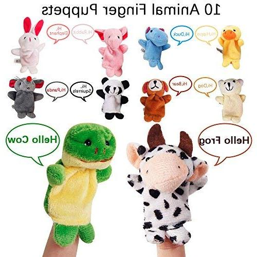 22 pcs Finger Toys Mini Plush Figures Assortment For Hands Finger For Autistic Family Set