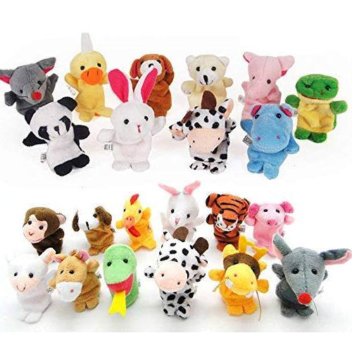 plush animals finger puppets
