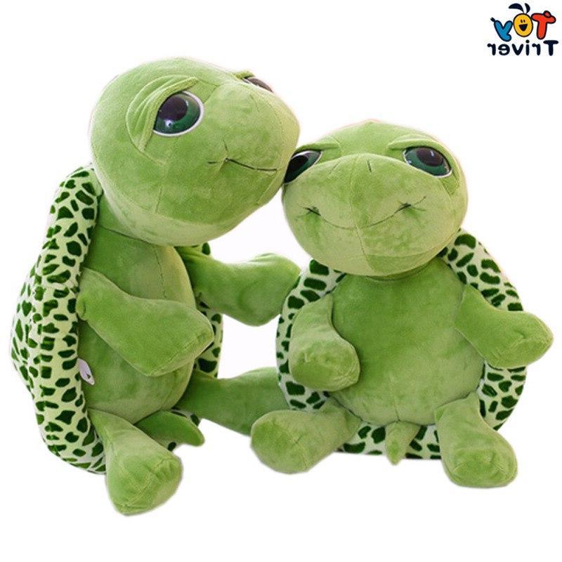 Plush Big Green Tortoise <font><b>Stuffed</b></font> Ocean Home Shop Decoration Triver