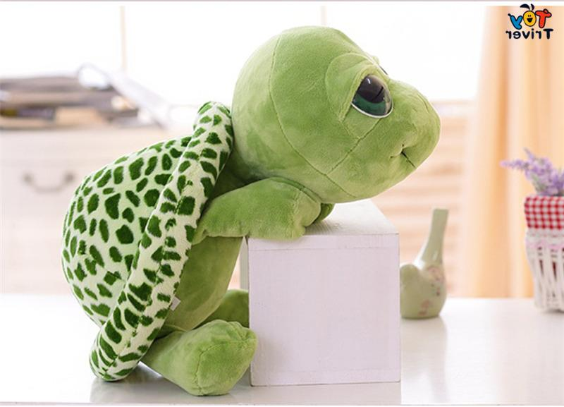 Plush Green Tortoise Toys <font><b>Stuffed</b></font> Gift For Baby Home Shop Decoration Triver