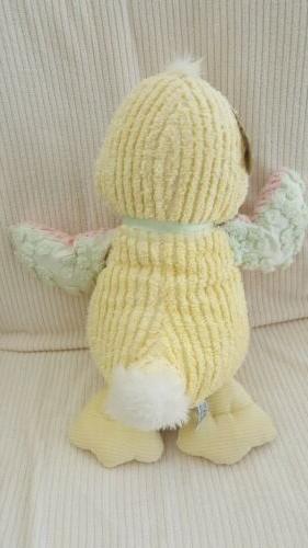 Chenille Duck Stuffed Yellow Pink Floppy Wings
