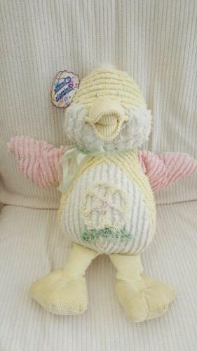 plush duck stuffed toy yellow white pink
