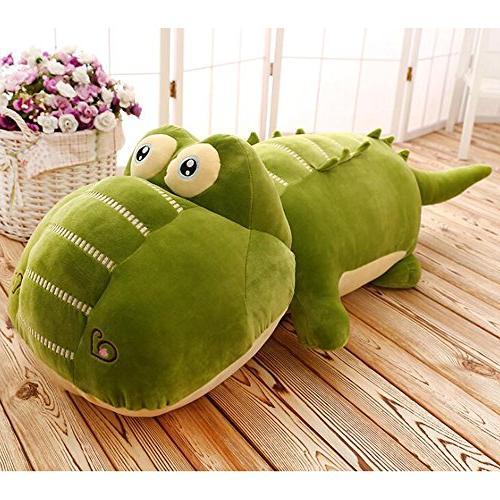 plush green crocodile