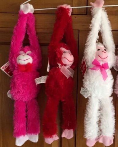 """18"""" Plush Hanging Monkeys STUFFED ANIMAL soft HANDS monkey V"""