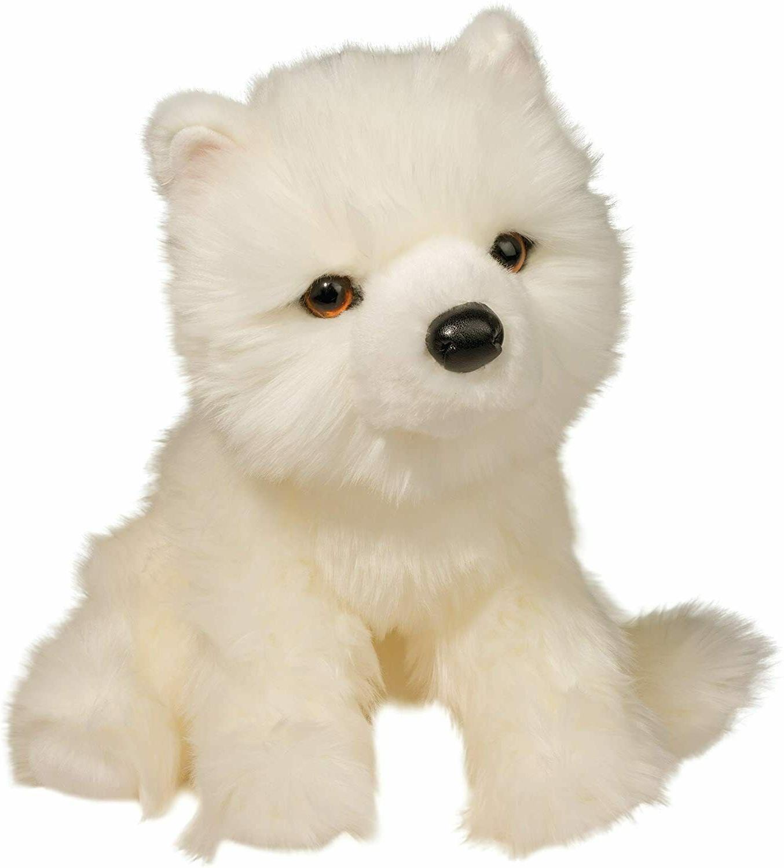 plush luka 13 floppy samoyed dog white