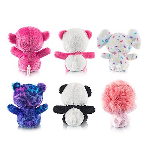 MY Plush Toys Bundle of Animal Toys Lion/Monkey/Elephant/Pink Stuffed of 6 Girls