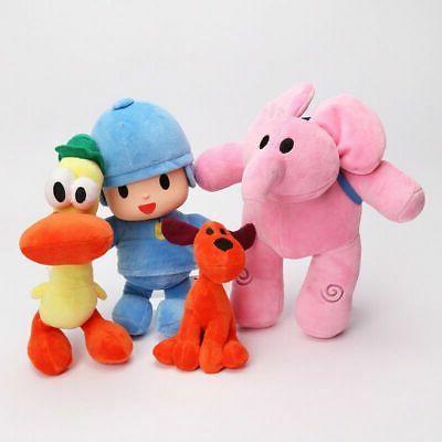 4pcs Bandai Pocoyo Elly Pato Loula Soft Plush Stuffed Figure