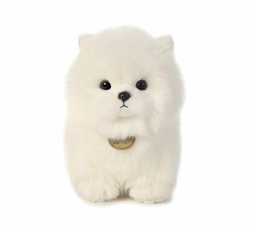Pompom White Plush Animal Soft Doll Gift