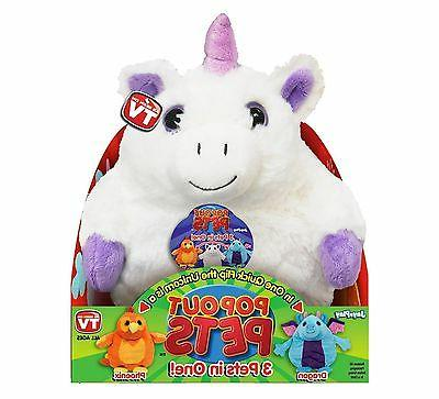 Pop Reversible Plush Toy, Get 3 Stuffed in One