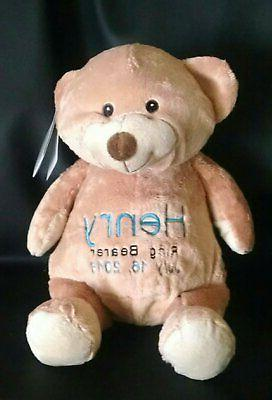 Custom bear personalized embroidered ring bearer stuffed plu