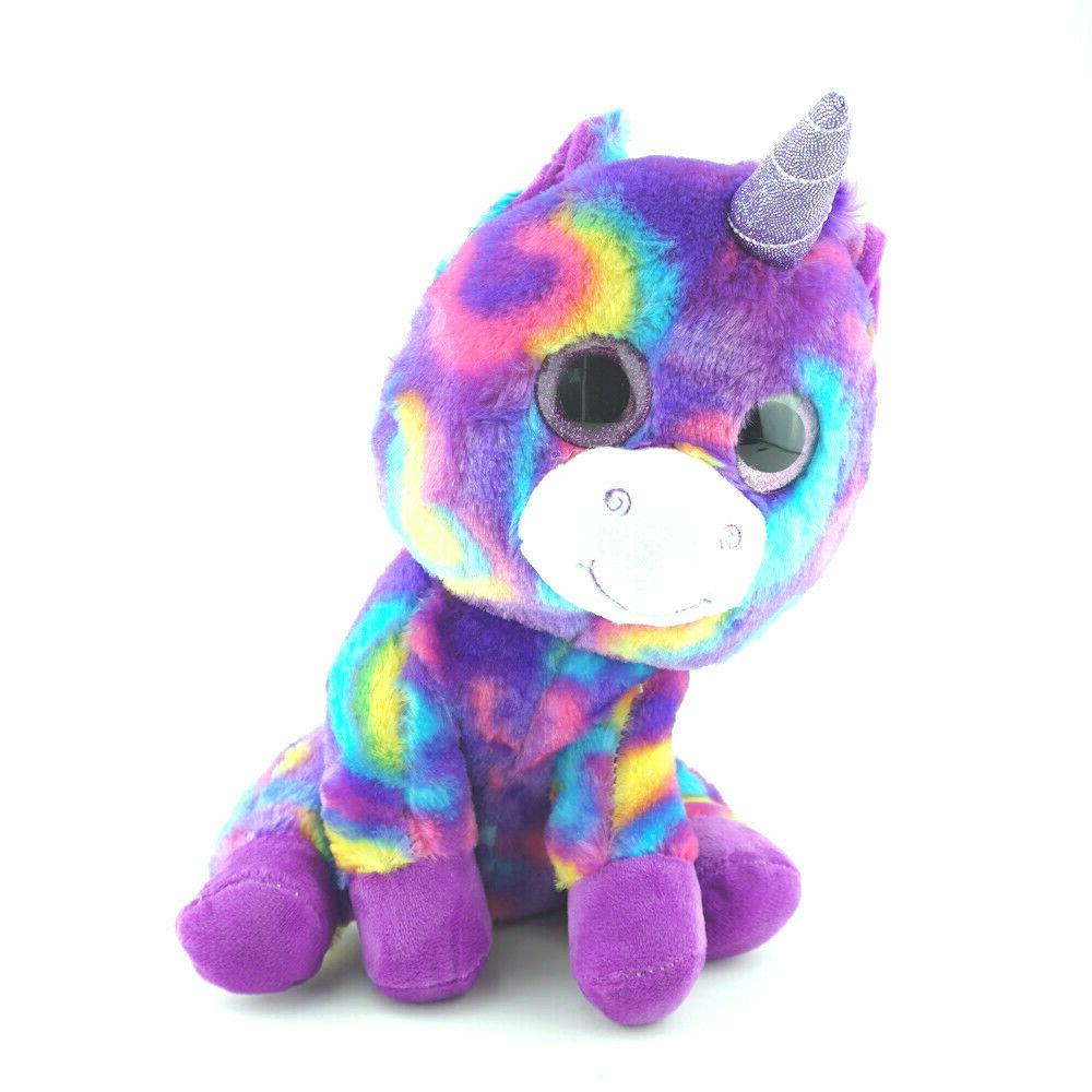 purple unicorn plush stuffed animals pet toys