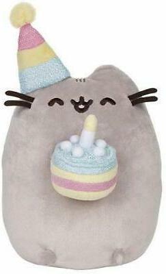 """GUND Pusheen Birthday Cake Plush Stuffed Animal Cat, 9.5"""""""